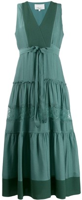 3.1 Phillip Lim V-neck tiered midi dress