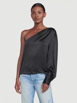 Frame Silk Relaxed One Shoulder Top