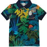 Paul Smith Kids' Leaf-Print Cotton Piqué Polo Shirt