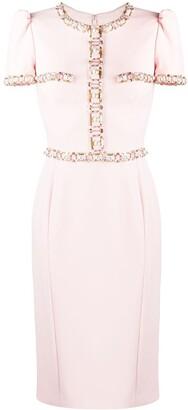 Jenny Packham Ines beaded-trim tailored dress