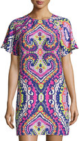 Alice & Trixie Abby Silk Shift Dress, Paisley