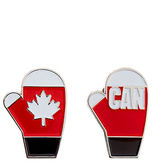 HBC Canadian Olympic Team Collection Two-Pack Red Mittens Pin Set