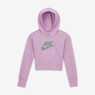 Nike Big Kids' (Girls') Cropped French Terry Hoodie
