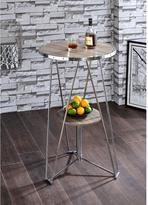 ACME Furniture ACME Jarvis Bar Table, Oak & Chrome