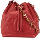 Chanel Pre Owned CC drawstring chain shoulder bag