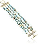 "Sam Edelman Multi-Row Nugget Bracelet, 7.5"""