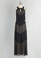 London Times Rare and Remarkable Maxi Dress in Lines