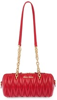 Miu Miu matelasse logo plaque mini bag