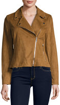 Bagatelle Faux-Suede Motorcycle Jacket, Whiskey