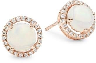 Saks Fifth Avenue 14K Rose Gold, Opal, & Diamond Earrings