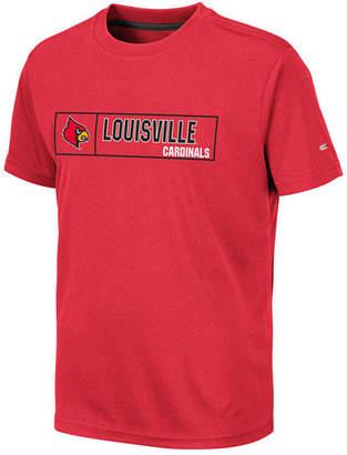 Colosseum Big Boys Louisville Cardinals Boxed Logo Polyester T-Shirt