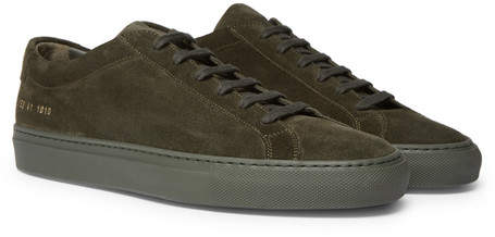Common Projects Original Achilles Suede Sneakers - Men - Army green