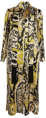 Marina Rinaldi Printed Midi Shirt Dress