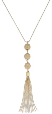 INC International Concepts Inc Triple Sphere Tassel Necklace, Created for Macy's