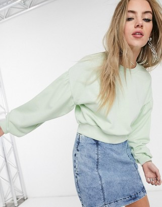 Bershka join life cropped sweat top in mint