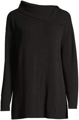 Lafayette 148 New York Asymmetric Long-Sleeve Sweater