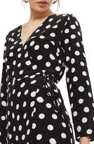 Topshop Polka Dot Wrap Dress
