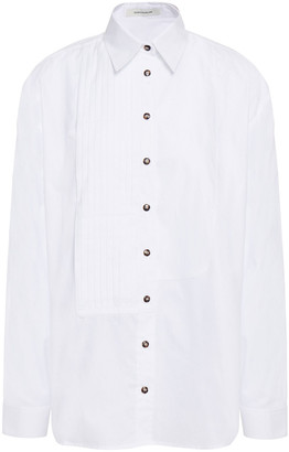 Cédric Charlier Pleated Cotton Shirt