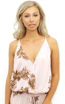 West Coast Wardrobe Tropical Retreat Racerback Blouse in Rose Latte