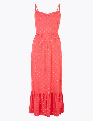 Marks and Spencer Polka Dot Midi Slip Dress