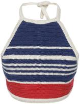 Vika Gazinskaya Cropped Cotton Knitted Halter