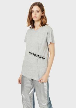 Emporio Armani T-Shirt With Plasticised Logo
