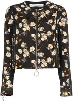 Off-White Off White Floral Printed Bomber Jacket