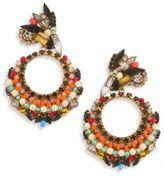 Erickson Beamon Safari Faux Pearl & Crystal Cluster Earrings