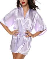Avidlove Women's Kimono Robe Satin Lounge Bridesmaid Short Style XXL