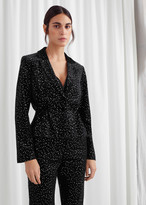 And other stories Sequined Velvet Hourglass Blazer