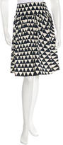 Prada Printed Knee-Length Skirt