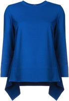 Akris Punto round-neck long back top - women - Nylon/Spandex/Elastane/Viscose - 4