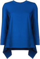 Akris Punto round-neck long back top