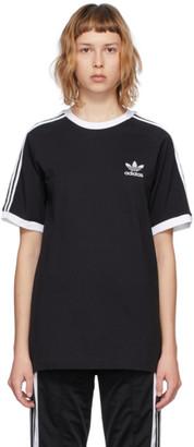 adidas Black Adicolor Classics 3-Stripe T-Shirt
