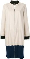 Jean Paul Gaultier Pre Owned colour block zipped coat
