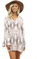 West Coast Wardrobe Wild Charm Printed Dress in Ivory Combo