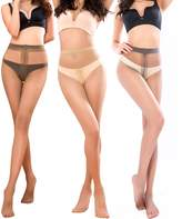 BONAS 1985 Pantyhose For Women Sheer Toe Full Length Reinforced T Crotch 15 Denier 3 Packs(M/L)