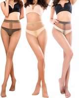 BONAS 1985 Pantyhose For Women Sheer Toe Full Length Reinforced T Crotch 15 Denier 3 Packs(S/M)