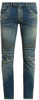 Balmain Biker Distressed Slim-leg Jeans
