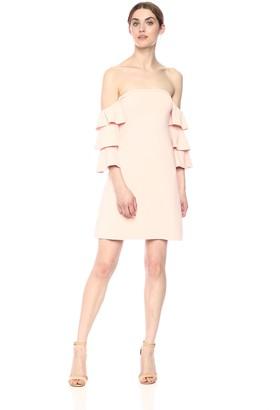 Susana Monaco Women's Ruffle Sleeve A-LINE Dress