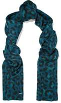Maje Metallic Intarsia-Knit Scarf