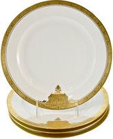 One Kings Lane Vintage Gold-Encrusted Bavarian Plates, S/4
