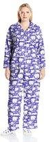 Karen Neuburger Plus Size Long Sleeve Minky Fleece Girlfriend PJ Set with Sock