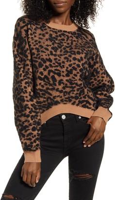 J.o.a. Leopard Print Sweater