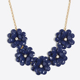 J.Crew Factory Crystal floral burst necklace