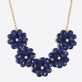 J.Crew Factory Crystal floral burst necklace