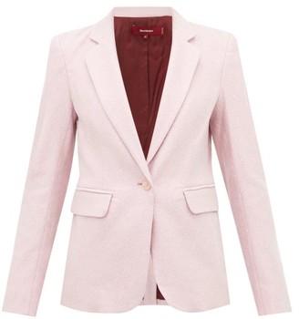 Sies Marjan Mason Single-breasted Lurex Jacket - Womens - Light Pink