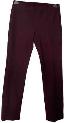 Vince Burgundy Cotton Trousers