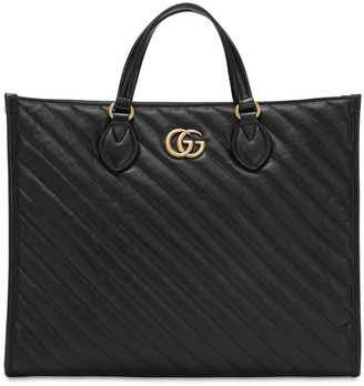 Gucci Gg Marmont 2.0 Leather Tote Bag