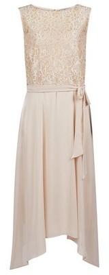 Dorothy Perkins Womens **Billie & Blossom Tall Nude Midi Dress, Nude